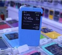 Blue TPU PC Protector Window Stand Case Cover for Samsung Galaxy Note 3 III N9000 N9002 N9005 N9006 N9008 N9009