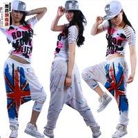 Fashion Loose Casual harem pants Female jazz dance hip hop women
