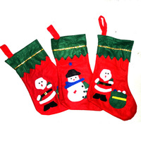 Free Shipping! Different Style Randomly Send! Beautiful Christmas Stocking 34*24cm LXY006C