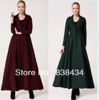 2013 new Slim Long coat female woolen jacket fall and winter clothes coat Nizi Europe