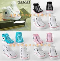 5 pairs infant Baby 3D socks non-slip baby shoe shape gift children socks hose free shipping for xmas new year