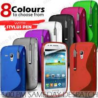 Hot sale high quality S frosted TPU  case for samsung S3 Mini i8190,Free shipping 300pcs{100pcs case+100pcs film+100pcs pen}
