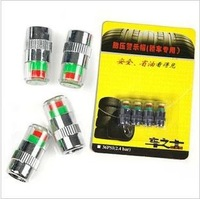 1 Set(4pcs) 2.4bar New Car Tyre Tire Pressure Monitor Indicator Valve Stem Cap Sensor 3 Color Eye Air Alert  N217
