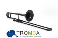 Spring Gift, Bb Tenor Plastic Trombone -BLACK