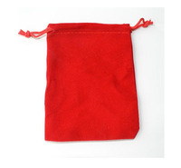 Free Shipping,500pcs/Lot 12*10cm Red Velvet Jewelry Gift Packaging Drawstring Bags & Pouches ,Christmas/Wedding Gift Bag
