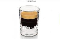 Free Shipping novelty households 6Pcs/lot Europe style Double Wall shot Glass Coffee Cup,Mug,teacu ,Thermo Glass Cups 80ml,2.8oz