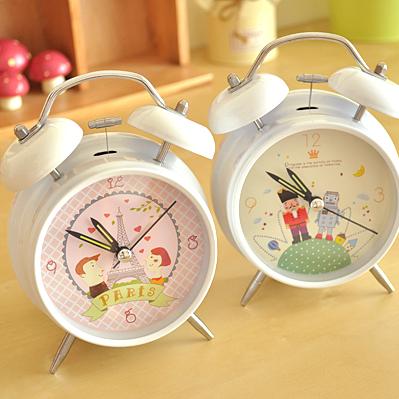 Min Order is 15$(MIX) Bread belt yq nightlight mute alarm clock Free Shippiing(China (Mainland))