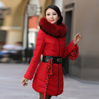 Promotions 2013 Winter New Ms. Genuine Korean Fashion Leisure Tide Nagymaros collar Down In the long sectional Free shipping