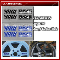 Auto Car Sticker Volk Racing Wheel Sticker Rays Engineering Wheel Drives Emblem Stickers Wholesale 20pcs/lot Custom made sticker