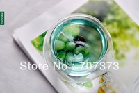 50ML Free shipping by EMS Glass Tea Cups For all kind of tea Pu'er tea cup heat resistant glass /double-deck