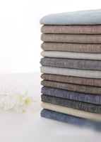 Simple and elegant natural yarn dyed pure linen cloth 13colors for choice 140cm width