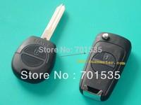 Free shipping for Blank Flip Folding Remote Key Shell Case Upgrade For Nissan Massardi 2BT