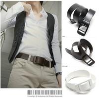 Metal choihoo ! plastic general all-match belt strap
