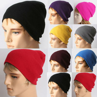 HOT Unisex Solid Color Warm Plain Acrylic Knit Ski Beanie Skull Hat YHT-00415