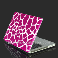 giraffe pattern Surface treatment  rubberized   Hard case cover for macbook pro 13""