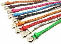 Fashion all-match choihoo women's knitted strap Women tieclasps belt