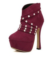 2013 buckle fashion knight high heel martin ankle women snow boots for women and woman  shoe #J10147H-2