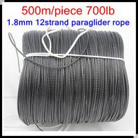 Drop shipping 500m/piece 700lb Dyneema Braided Paraglider Winch Cord 1.8mm 12 strand