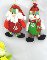 Christmas Decoration Santa Claus Snowman Christmas Pendant Christmas Gift  Wholesale Free Shipping