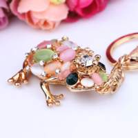 2014 Fashion personality charm  frog keychain female car keychain key chain bags buckle