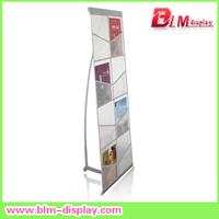 Aluminum net brochure holder for free shipping magazine rack menu holder catalogue shelf