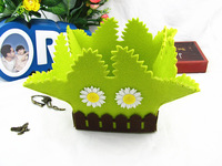 2013 Fashion Decoration  felt Handiwork Flower Basket  House Decoration Free Shipping