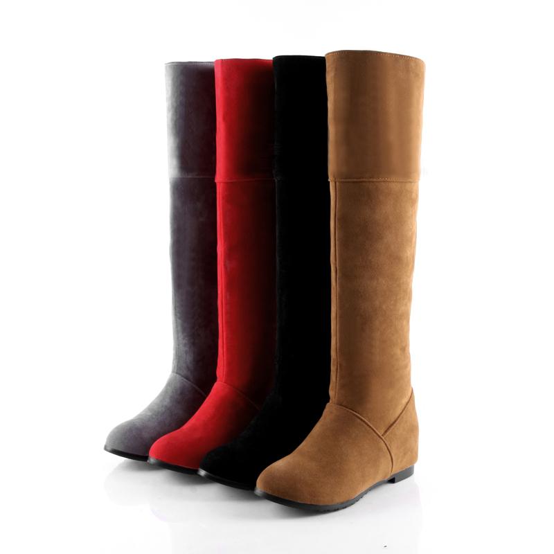 new trendy s shoes faux suede low heel inner wedge