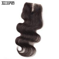 "New Arrival Peruvian Virgin Hair Body Wave Middle Part Swiss Lace Top Closure 4""*3.5"" Knots Bleached, Unprocess Color 1B TD HAIR"