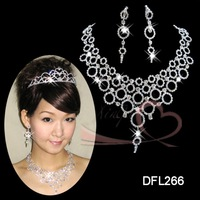 Hot sales!bride wedding accessories jewelry sets of chain,Middle East 888A jewel earrings+necklace DFL266 free ship