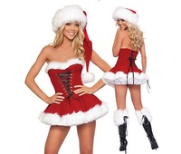 Sexy cosplay Sex uniform stage performance  Santa suit temptation female Christmas underwear clothing
