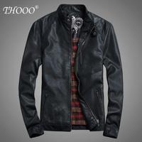 2013 Wholesale New HOT GENTLEMEN'S Black pu leather classic fashion Slim Coat Motorcycle jacket szie M L XL 2XL 3XL 4XL 5XL