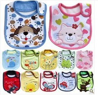 The latest baby baby bib saliva towel bib three layers of cotton gauze waterproof children eating and clothes  free shipping