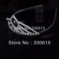 New Design 2014 Wholesale Hair Accessories for Women Rhinestone Princess Crown Bride Hair Accessories Crown