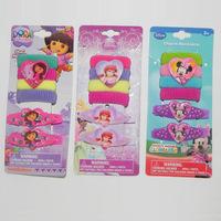 Fashion cute Dora / mermaid / Minnie Children hair pins  Hair ring hair accessory for kid girl  jewelry Set  6pcs /set  PAH-3010