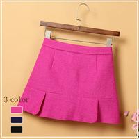 2013 short skirt woolen slim hip skirt high waist zipper a-line skirt bust skirt female