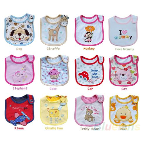 Wholesale Baby Girl Boy Towel Saliva Waterproof New Kids Cartoon Pattern 3 Layer Toddler Lunch Bibs Burp Cloths 1O3B(China (Mainland))