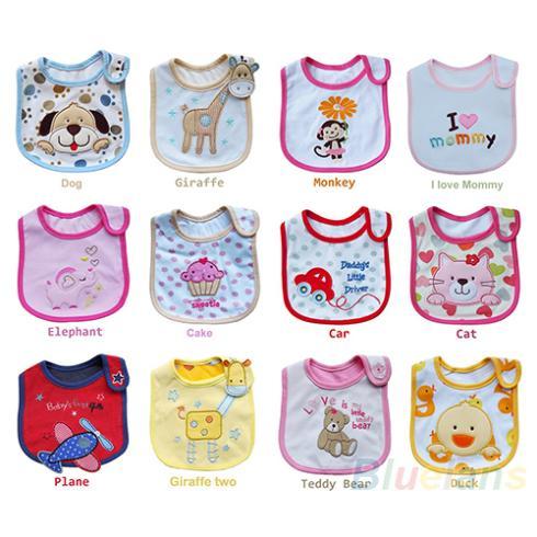 Wholesale Baby Girl Boy Towel Saliva Waterproof New Kids Cartoon Pattern 3 Layer Toddler Lunch Bibs Burp Cloths(China (Mainland))