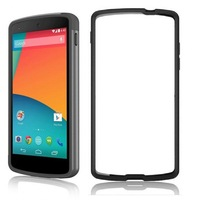 New Black Rim Edge Rubber Gel Bumper Case Cover Protector for Lg Nexus 5 Bumper Case