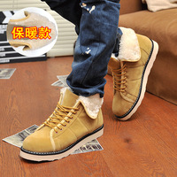 The trend of thermal snow boots male cotton-padded shoes casual shoes snow boots fashion boots fashion medium-leg