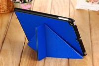 Hot sale Deformation multi fold Case Cover For iPad air 5 ipad 5 Luxury Leather Magnet Stands Cases Protective skin