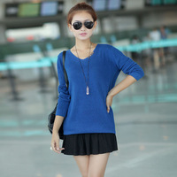 2013 autumn and winter women loose 1683 basic shirt