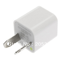 AU Plug USB Power Charger Adapter for iPhone 5 4 4S (White)