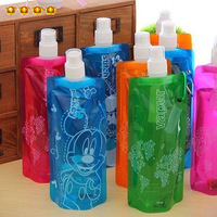 Tc sports cup travel portable folding water bag eco-friendly bottle cooler bag 4873