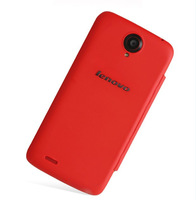 Free shipping ! high quality original flip cover case(red color) for lenovo s820 phone