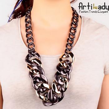 Artilady hot sale  chain necklace jewelry statement choker collar 2014 women jewelry