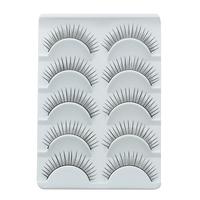 Hot Sale False Eyelashes Natural Brand Individual Makeup Synthetic Fiber Eyelash Include Professional Eyelash Glue