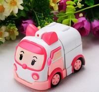hot sell 4pcs/lot Robocar poli 4pcs 2.2''-4'' deformation car bubble South Korea Thomas toys 4models mix robocar poli