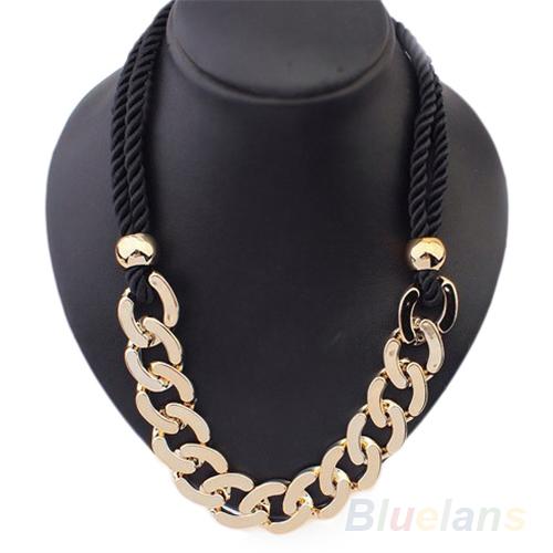 Women's Retro Rope Fashion Stylish Rock Hip Hop Punk Style Long Chain Necklace 1OHA(China (Mainland))