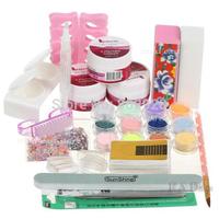 2014 New Pro 21 Item Nail Art Liquid Powder Brush Pen Glitter Powder Decoration Cuticle Acrylic Nail Kit dropshipping