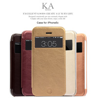for iphone 5c leather case flip cover with kalaideng brand ka series retail package